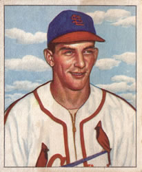1950 Bowman #125 Del Rice RC