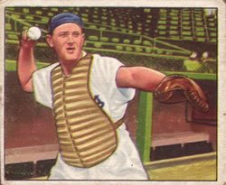 1950 Bowman #165 Bruce Edwards