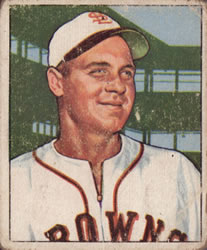 1950 Bowman #190 Ken Wood RC