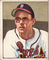 1950 Bowman #192 Bob Chipman