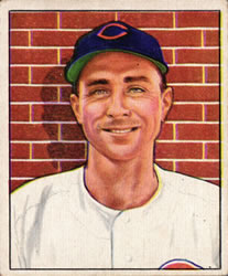 1950 Bowman #197 Johnny Wyrostek