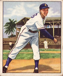 1950 Bowman #214 Dick Fowler
