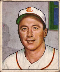 1950 Bowman #249 Snuffy Stirnweiss