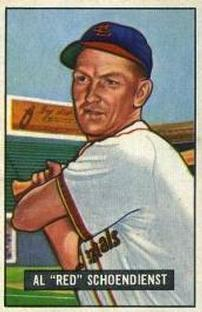 1951 Bowman #10 Red Schoendienst