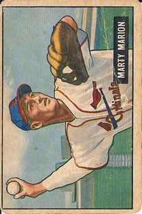 1951 Bowman #34 Marty Marion MG