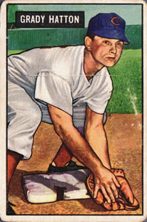 1951 Bowman #47 Grady Hatton