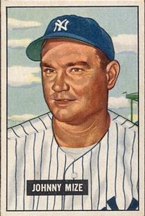 1951 Bowman #50 Johnny Mize