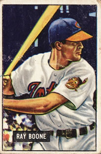1951 Bowman #54 Ray Boone RC