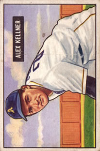 1951 Bowman #57 Alex Kellner