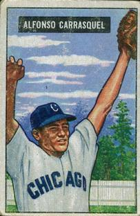 1951 Bowman #60 Chico Carrasquel RC