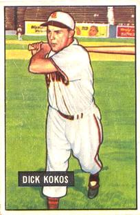 1951 Bowman #68 Dick Kokos