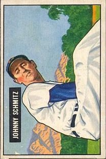 1951 Bowman #69 Johnny Schmitz