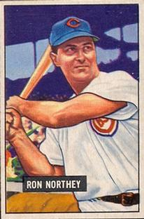 1951 Bowman #70 Ron Northey front image