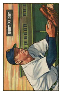 1951 Bowman #71 Jerry Priddy