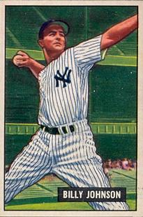 1951 Bowman #74 Billy Johnson front image