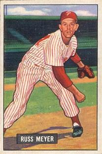1951 Bowman #75 Russ Meyer RC