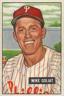 1951 Bowman #77 Mike Goliat