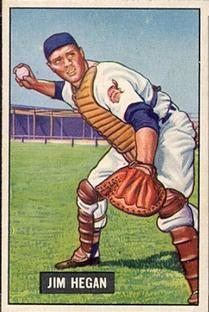 1951 Bowman #79 Jim Hegan