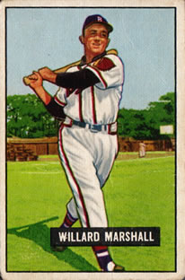 1951 Bowman #98 Willard Marshall