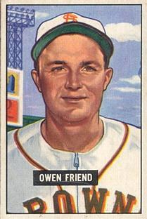 1951 Bowman #101 Owen Friend