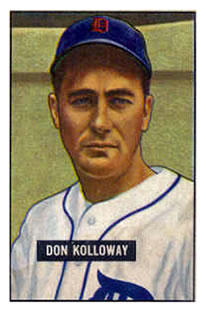 1951 Bowman #105 Don Kolloway front image