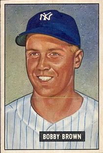 1951 Bowman #110 Bobby Brown front image