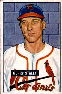 1951 Bowman #121 Gerry Staley RC