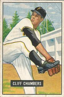 1951 Bowman #131 Cliff Chambers