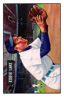 1951 Bowman #140 Eddie Lake