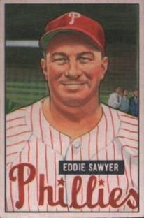 1951 Bowman #184 Eddie Sawyer MG