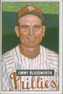 1951 Bowman #185 Jimmy Bloodworth