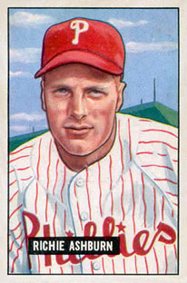 1951 Bowman #186 Richie Ashburn