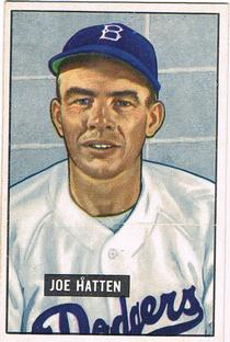 1951 Bowman #190 Joe Hatten