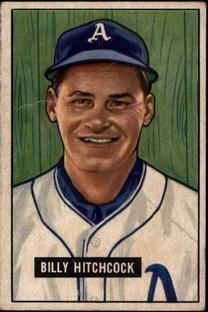 1951 Bowman #191 Billy Hitchcock RC