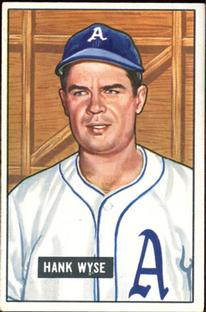 1951 Bowman #192 Hank Wyse RC