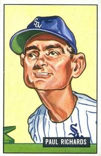 1951 Bowman #195 Paul Richards MG/Caricature