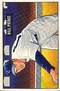 1951 Bowman #196 Billy Pierce RC
