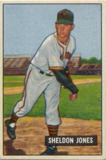 1951 Bowman #199 Sheldon Jones front image
