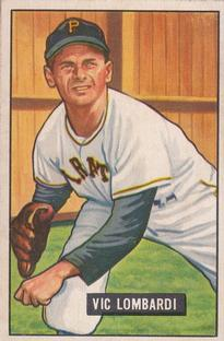 1951 Bowman #204 Vic Lombardi RC