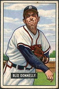 1951 Bowman #208 Blix Donnelly