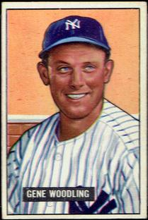 1951 Bowman #219 Gene Woodling RC