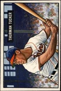 1951 Bowman #222 Thurman Tucker RC front image