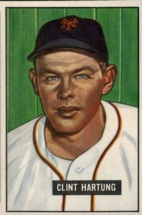 1951 Bowman #234 Clint Hartung