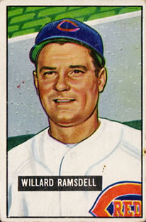 1951 Bowman #251 Willard Ramsdell RC