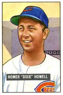 1951 Bowman #252 Dixie Howell RC