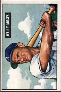 1951 Bowman #261 Wally Moses