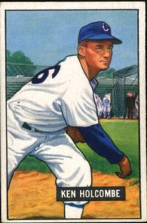 1951 Bowman #267 Ken Holcombe RC