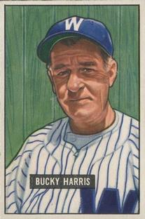 1951 Bowman #275 Bucky Harris MG