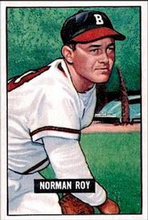 1951 Bowman #278 Norman Roy RC