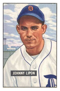 1951 Bowman #285 Johnny Lipon RC